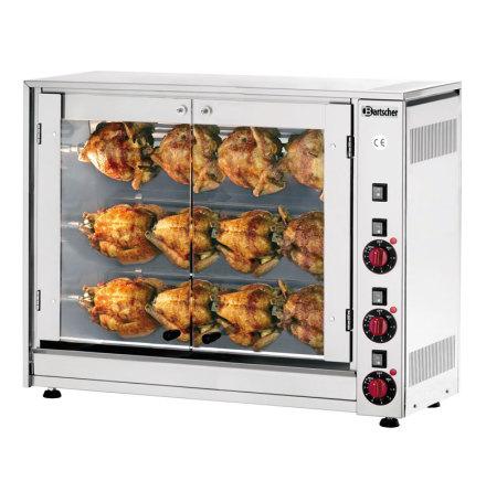 Kycklinggrill P12N för 12 st kycklingar, Bartscher