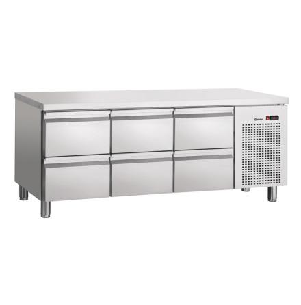 Kylbänk S6-150, 6 draglådor<BR> GN 1/1 5x -150 1x -100, Bartscher