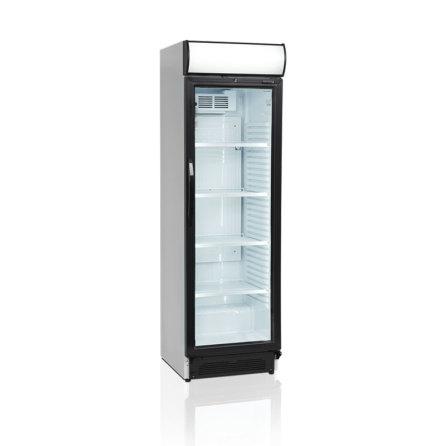 Kylskåp med glasdörr CEV425CP-I<br> inkl. belyst huv, Tefcold
