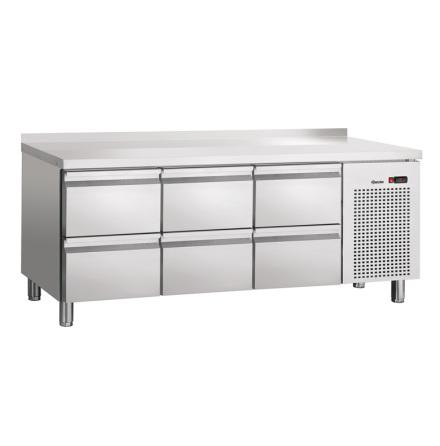 Kylbänk S6-150MA, 6 draglådor<BR> GN 1/1 5x -150 1x -100, Bartscher