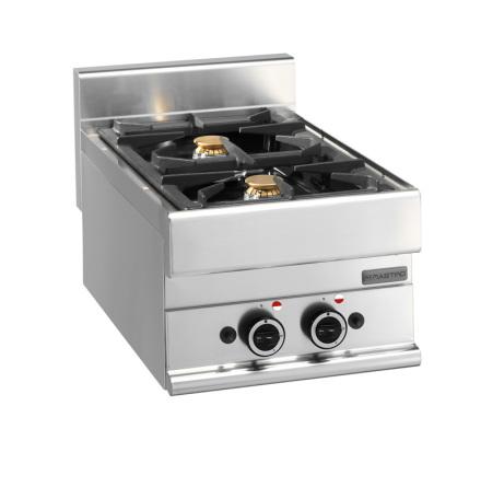 Spis gas bänkmodell 2 brännare 8.6 kW dim. 400x650x280 mm