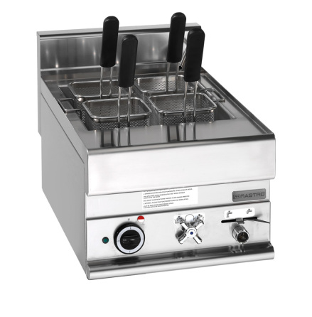 Pastakokeri el bänkmodell 20 liter, 9 kW exkl. pastakorgar 400x650x280 mm