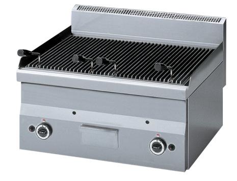 Lavastensgrill gas bänkmodell 11 kw 600x600x280 mm
