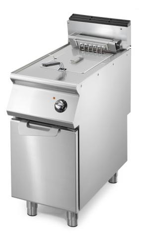 Fritös el 1 x 10 liter 10 kW dim. 400x730x870 mm