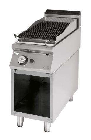 Lavastensgrill gas gjutjärnsgaller fisk/kött 7.5 kW dim.400x730x870 mm
