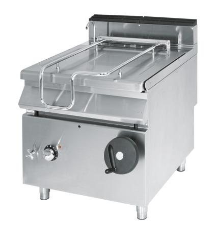Tippbart stekbbord el kapacitet 50 L 10 kW dim. 800x730x870 mm