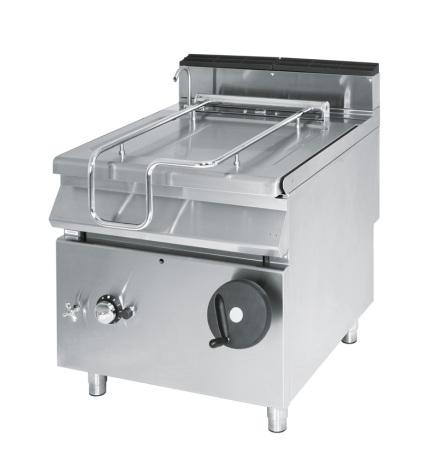 Tippbart stekbord gas kapacitet 50 L 14 kW dim. 800x730x870 mm