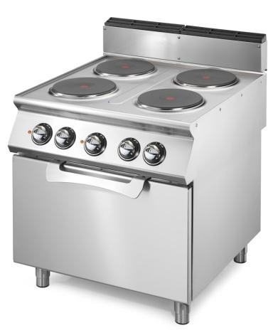 Spis el 4 plattor elektrisk statisk ugn 2/1 16.4 kW dim. 800x730x870 mm