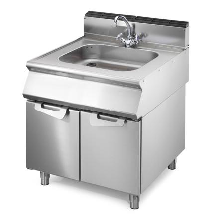 Avställning inkl. vask med underskåp dim. 800x730x870 mm