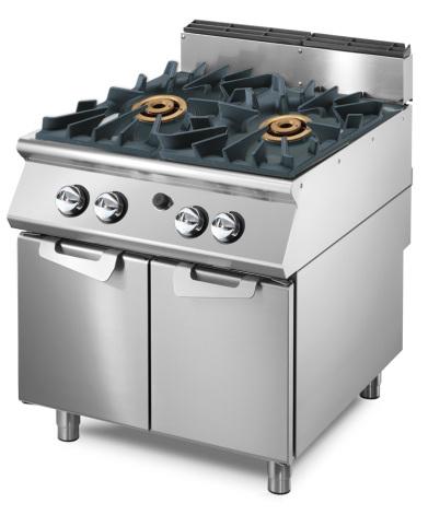 Gasspis 2 brännare vardera 16 kW skåp med dörrar dim. 800x730x870 mm