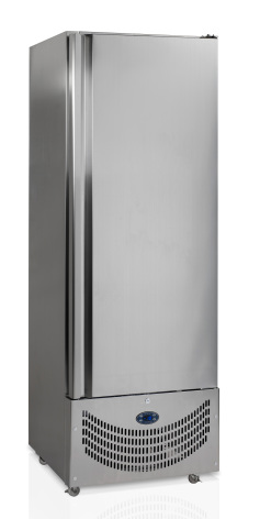 Frysskåp 500 liter rostfri inkl. 3 st hyllor RF500SNACK Tefcold