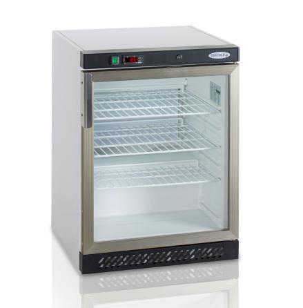 Kylskåp kompakt glasdörr UR200G Tefcold dim. 600x600x850 mm