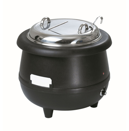 Soppvärmare Gourmet 10 liter svart<br> dim. 390x390x380 mm