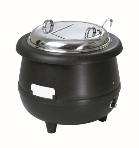 Soppvärmare Gourmet 10 liter svart dim. 390x390x380 mm dim. dim. 390x390x380 mm