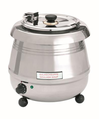 Bartscher soppvärmare De Luxe 9 liter rostfri dim. 345x345x360 mm