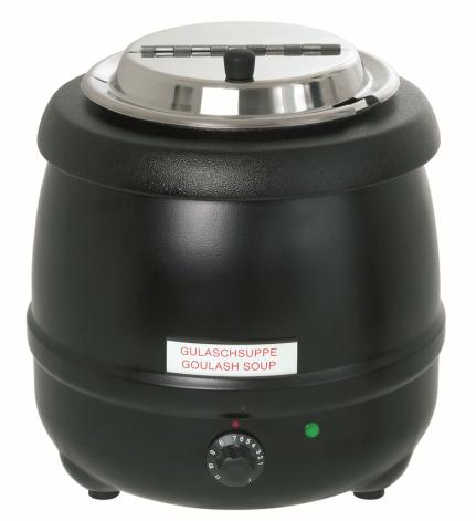 Soppvärmare 9 liter svart dim. 330x330x360 mm dim. 330x330x360 mm