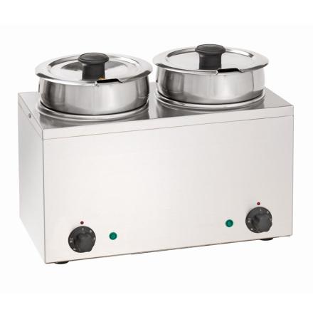 Vattenbad Hotpot, 2 x 3,5 liter dim. 415x210x320 mm