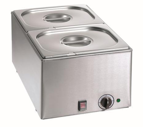 Vattenbad inkl. 2 x 1/2- 150 kantiner + lock dim. 338x540x248 mm