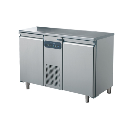 Kylbänk 2 dörrar slät toppskiva GN 1/1 Mastro temperaturområde: -2°/+8