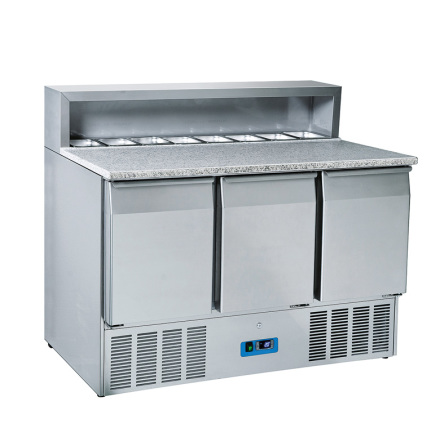 Mastro pizzakylbänk 3 dörrar GN 1/1<br> 8 x GN 1/6-150 mm