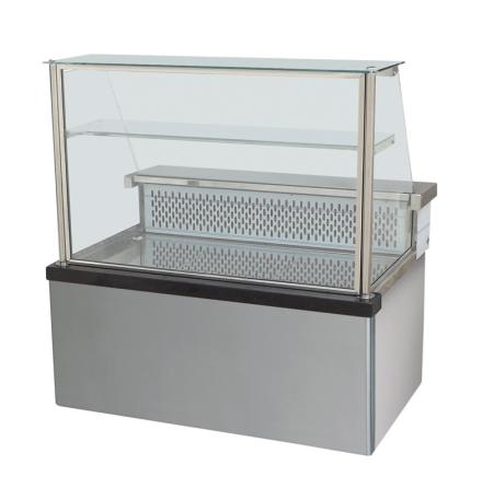 Kylmonter rakt frontglas +0°/+2°C L=1400 mm dim. 1400x880x1350 mm