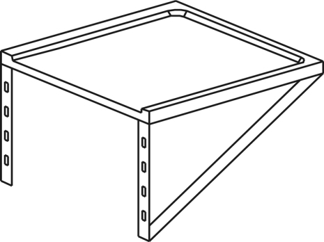 Utmatningshylla för diskmaskin L=700 mm dim. 700x650x200 mm