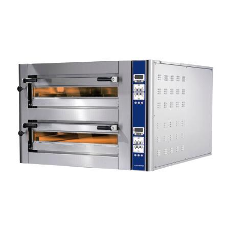 Pizzaugn el 6+6 pizzor ø 350 mm elektronisk kontrol<br>l exkl. stativ
