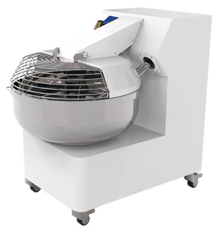 Gaffelblandare 25 kg deg & 30 L kittel 2 hastigheter hjul dim. 525x900x875 mm