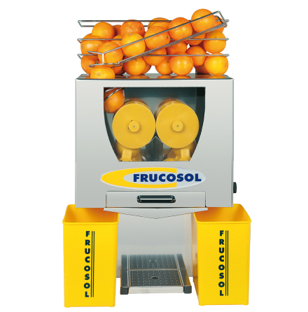 Juicemaskin automatisk 20-25 apelsiner/min max ø 85 mm dim. 470x370x735 mm