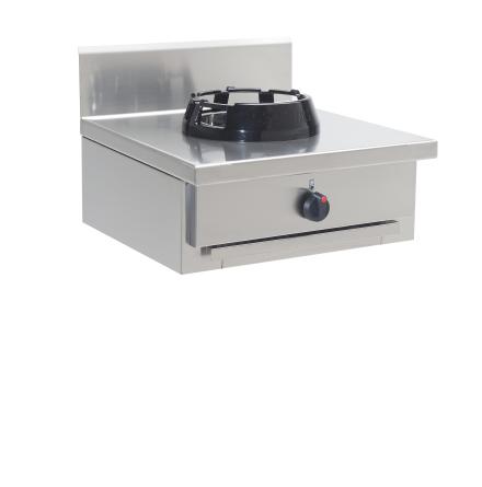 Wokspis bänkmodell 1 brännare 9.5, 14 eller 21 kW dim. 600x700x275 mm