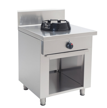 Wokspis bänkmodell 1 brännare 9.5 eller 14 kW dim.500x500x850 mm