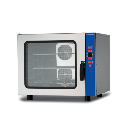 Varmluftsugn 6 x GN 1/1 Mastro<br> digital display befuktning programmerbar