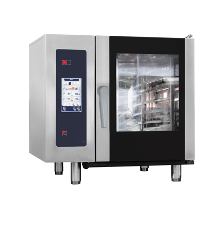 Kombiugn gas ånggenerator automatisk rengöring 6 GN 1/1 dim. 898x922x846 mm