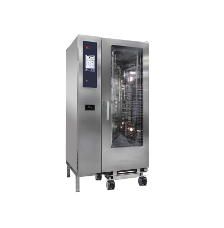 Kombiugn gas ånggenerator automatisk rengöring 20 x 1/1 GN dim. 929x964x1841 mm