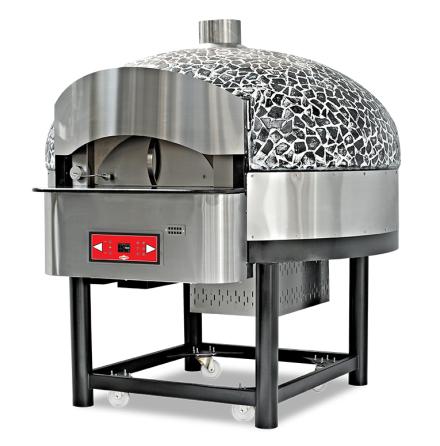 Pizzaugn Gas/Vedeldad roterande 9 pizzor dim. 1965x2127x2000 mm