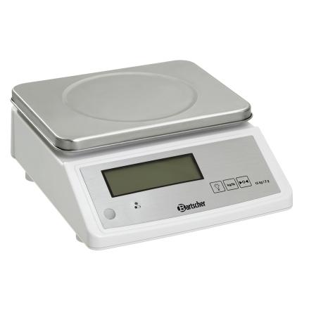 Köksvåg max 15 kg delning 2 g dim. 280x330x125 mm