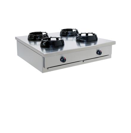 Wokspis 4 brännare 9.5, 14 eller 21 kW dim1000x1000x275 mm