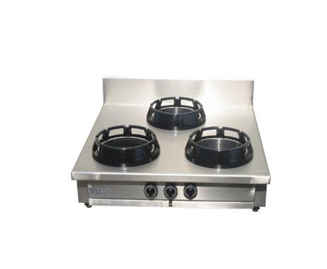 Wokspis 3 brännare 9.5, 14 eller 21 kW dim900/1000x900x275 mm