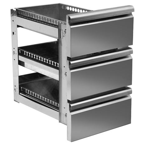 Set draglådor 3 x 1/1-100 mm för kylbänk MD700
