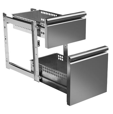 Set draglådor 1 x 1/1-100 mm 1 x 1/1-150 mm för kylbänk MD700