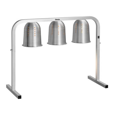 Bartscher värmebrygga med värmelampor<br> 2 lampor hostskydd I2WL800