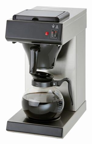 Bartscher kaffebryggare 1.8 liter 2 värmeplattor<br> dim. 215x385x460 mm