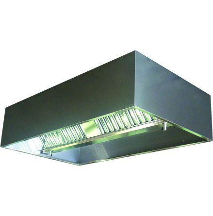 Ventilationskåpa tak belysning L=2200 mm/4000 m³/h dim. 2200x1500x450 mm