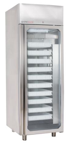 Bagerikyl glasdörr 700 liter(45x60) mm<br> inkl. 10 st skenor Gastroshop