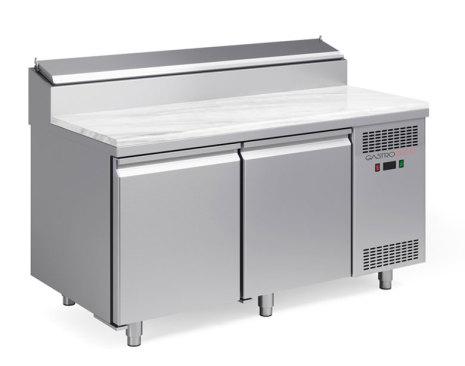 Pizzakyl 2 dörrar bakplåt (45x60) Gastroshop<br> kylränna med statisk kylning GN 1/6