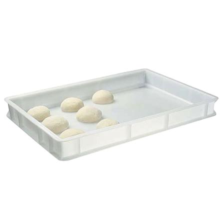 Plastlåda för pizza bollar 600x400x70 mm förvaring/jäsning