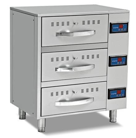 Värmelåda/värmehurts 3 lådor GN 1/1, exkl. kantiner MASTRO
