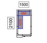 Kylrum 1500x2100x2010mm, 4.8 m3<br> inkl. kompressor & hyllor, Gastroshop