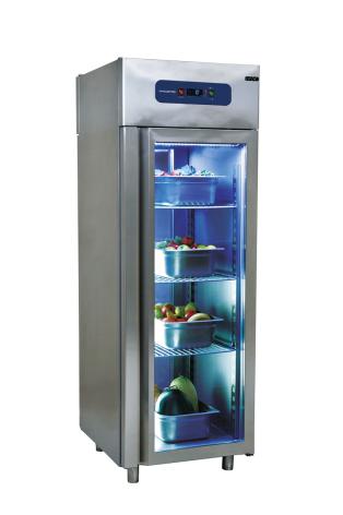 Kylskåp med glasdörr 700 liter GN 2/1 inkl. 3 st hyllor Mastro