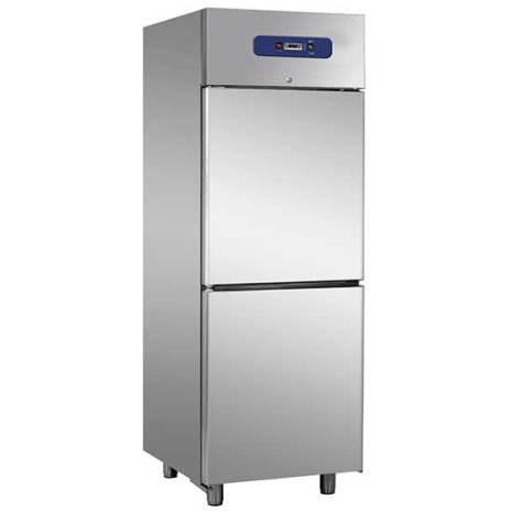 Frysskåp 600 liter 1/2 dörrar rostfritt inkl. 4 st hyllplan Mastro